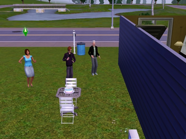 Sim dancing birthday party